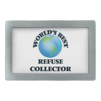 World's Best Refuse Collector Rectangular Belt Buckle