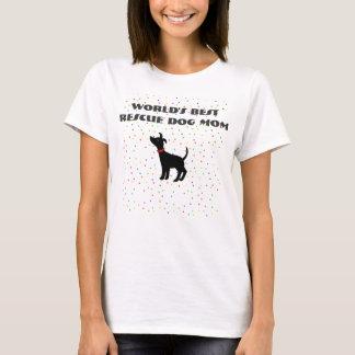World's Best Rescue Dog Mom T-shirt Shelter Dog