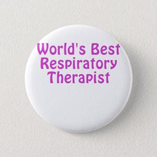 Worlds Best Respiratory Therapist 2 Inch Round Button