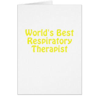 Worlds Best Respiratory Therapist Card