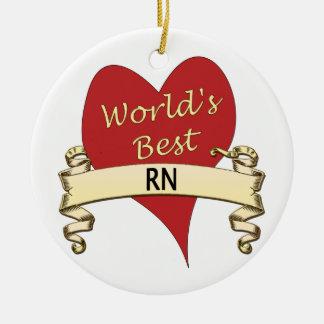 World's Best RN Ceramic Ornament