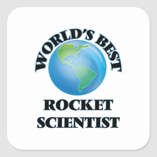 World's Best Rocket Scientist Square Sticker