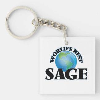 World's Best Sage Acrylic Keychains