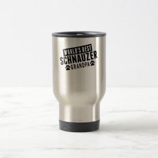 World's Best Schnauzer Grandpa Travel Mug