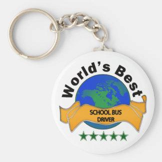 World's Best School Bus Driver Basic Round Button Keychain