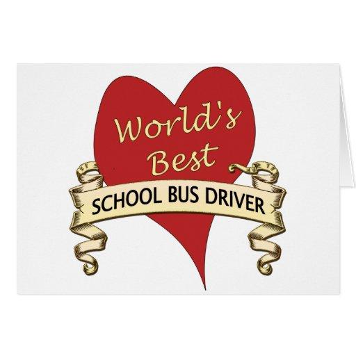 World's Best School Bus Driver Cards