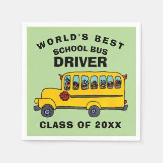 World's Best School Bus Driver Disposable Napkins