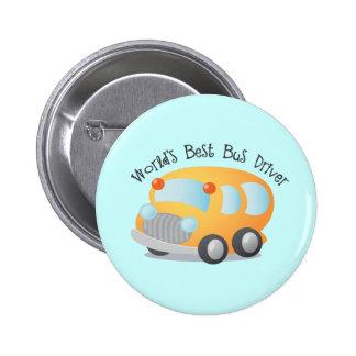 World's Best School Bus Driver Gift 2 Inch Round Button