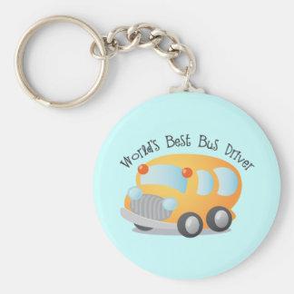 World's Best School Bus Driver Gift Basic Round Button Keychain