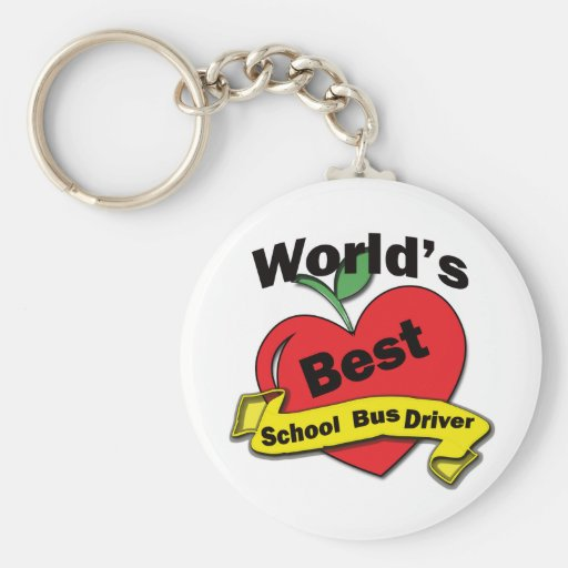 World's Best School Bus Driver Key Chains