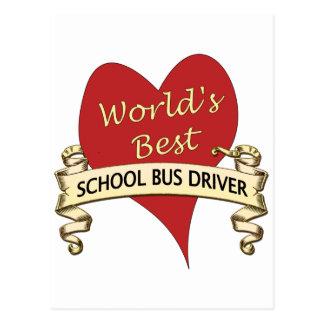 World's Best School Bus Driver Postcard