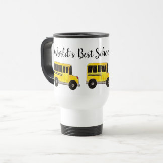 World's Best School Bus Driver Yellow Buses Gift Travel Mug