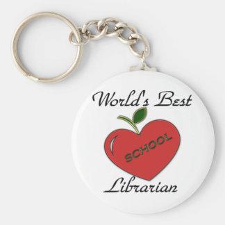 World's Best School Librarian Keychain
