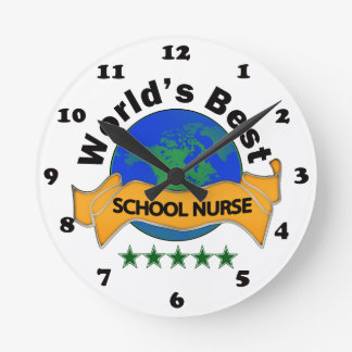World's Best School Nurse Round Clock