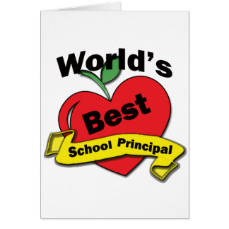 World's Best School Principal Card