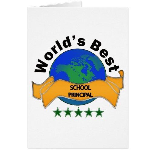 World's Best School Principal Cards