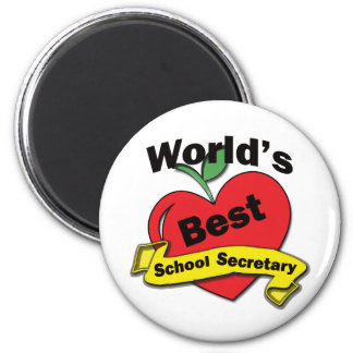 World's Best School Secretary 2 Inch Round Magnet