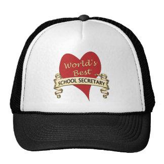 World's Best School Secretary Trucker Hat