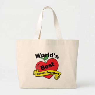 World's Best School Secretary Jumbo Tote Bag