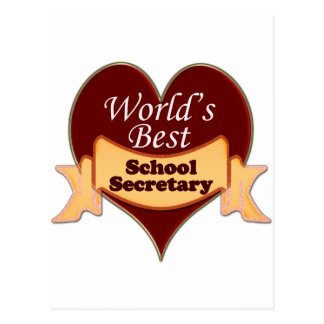 World's Best School Secretary Postcard