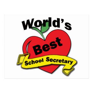 World's Best School Secretary Postcard