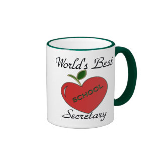World's Best School Secretary Ringer Coffee Mug