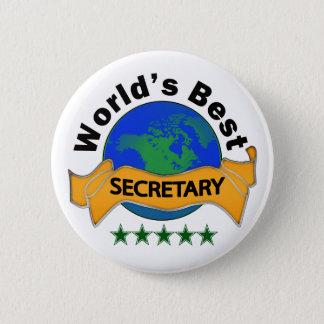 World's Best Secretary 2 Inch Round Button