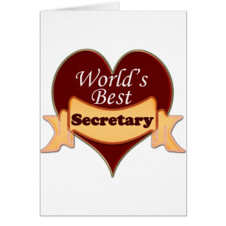 World's Best Secretary Card