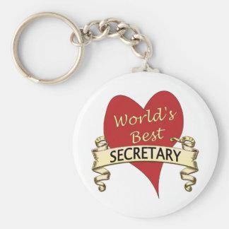 World's Best Secretary Keychain