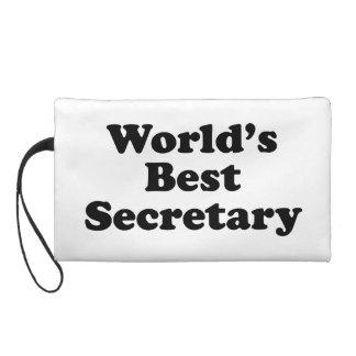 World's Best Secretary Wristlet Purses