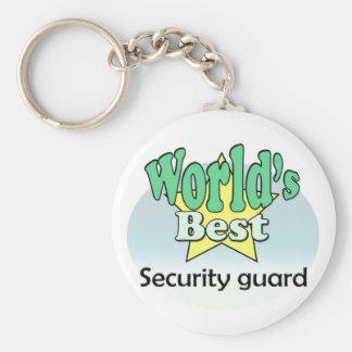 World's best Security guard Basic Round Button Keychain