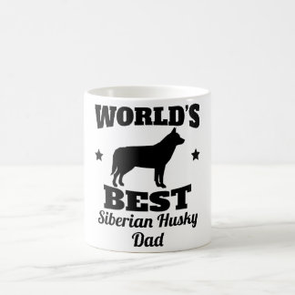 Worlds Best Siberian Husky Dad Coffee Mug