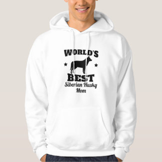 Worlds Best Siberian Husky Mom Hoodie