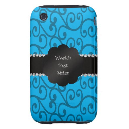 World's best sister blue swirls iPhone 3 tough cover