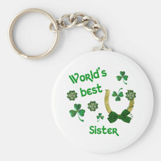World's best Sister Horseshoe Keychain