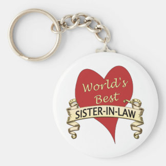 World's Best Sister-in-Law Basic Round Button Keychain