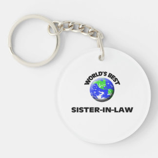 World's Best Sister-In-Law Single-Sided Round Acrylic Keychain