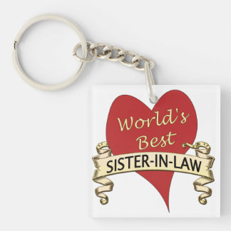 World's Best Sister-in-Law Single-Sided Square Acrylic Keychain
