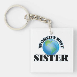 World's Best Sister Square Acrylic Key Chain