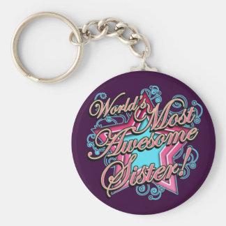 Worlds Best Sister Keychain