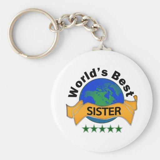 World's Best Sister Keychain
