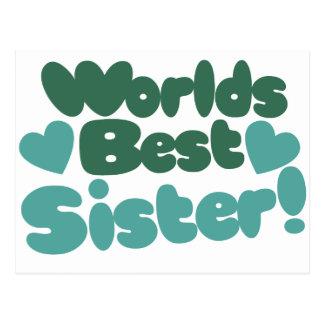 Worlds Best Sister Postcard