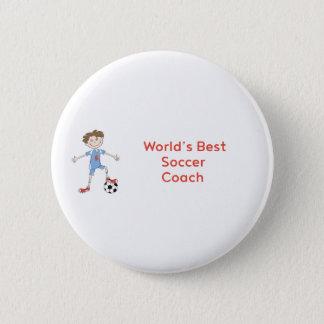 World's Best Soccer Coach 2 Inch Round Button