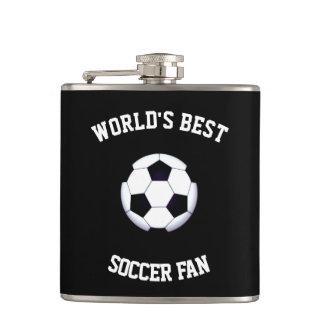 World's Best Soccer Fan6 oz Vinyl Wrapped Flask