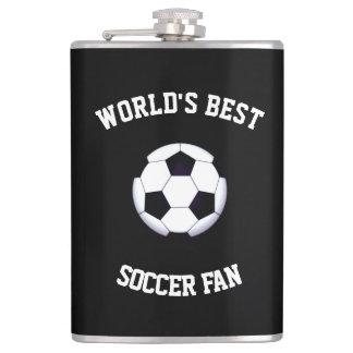 World's Best Soccer Fan 8 oz Vinyl Wrapped Flask