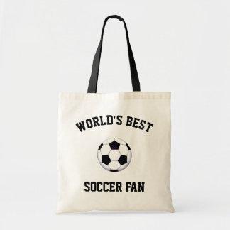 World's Best Soccer Fan Budget Tote Bag