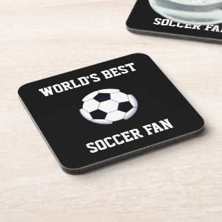 World's Best Soccer Fan Coasters (set of 6)
