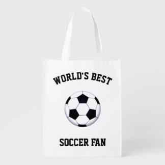 World's Best Soccer Fan Reusable Grocery Bag