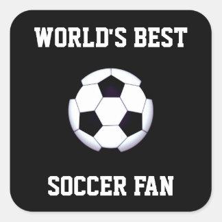 World's Best Soccer Fan Square Stickers