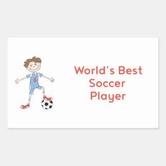 World's Best Soccer Player Sticker